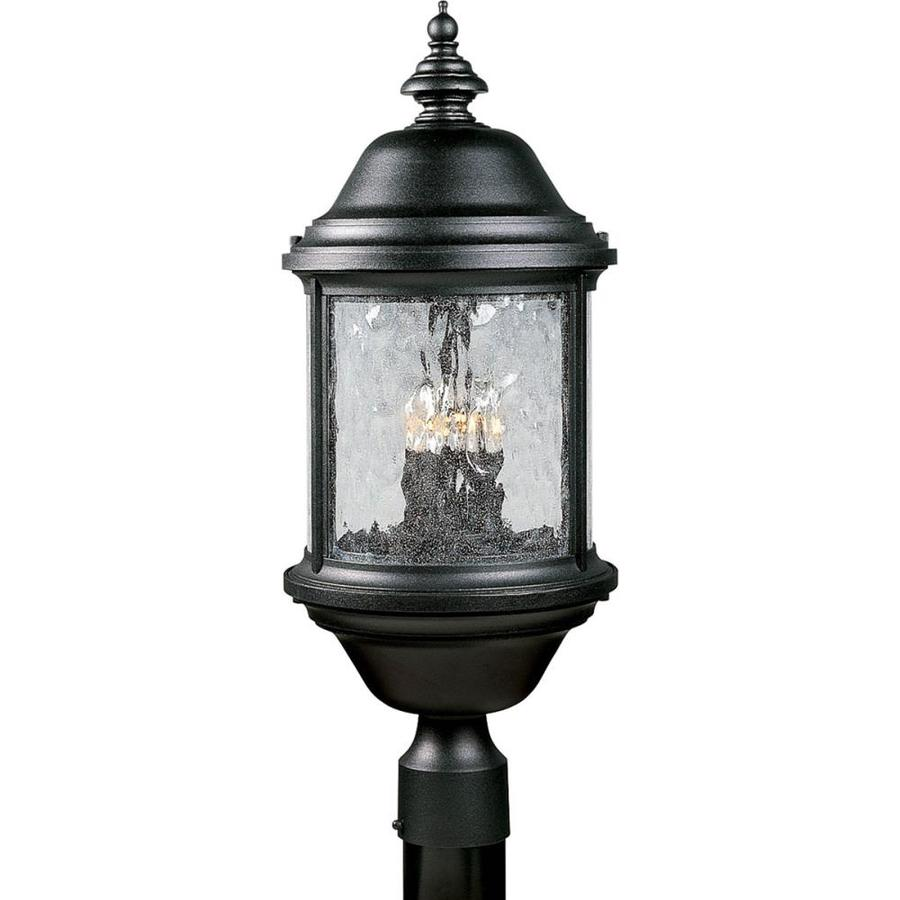 Progress Lighting Ashmore 24-in H Textured Black Post Light