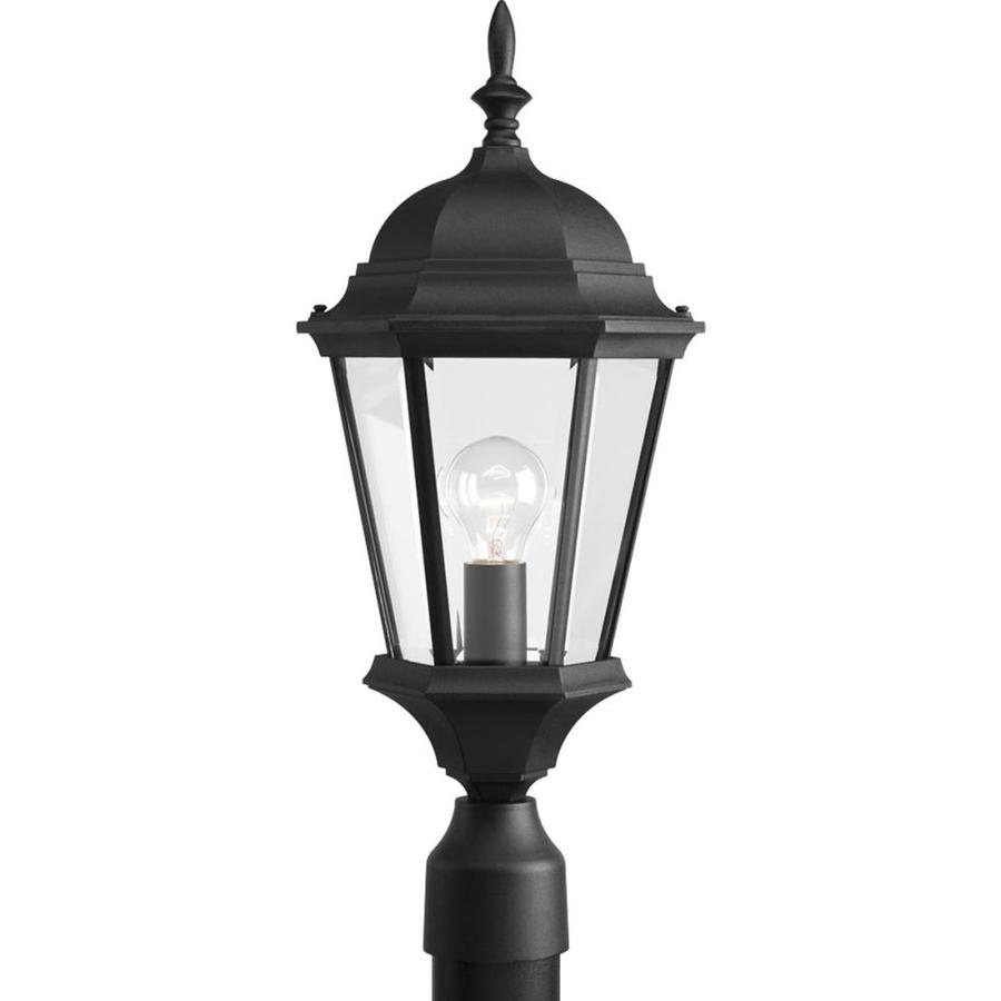 Progress Lighting Welbourne 21.25-in H Textured Black Post Light