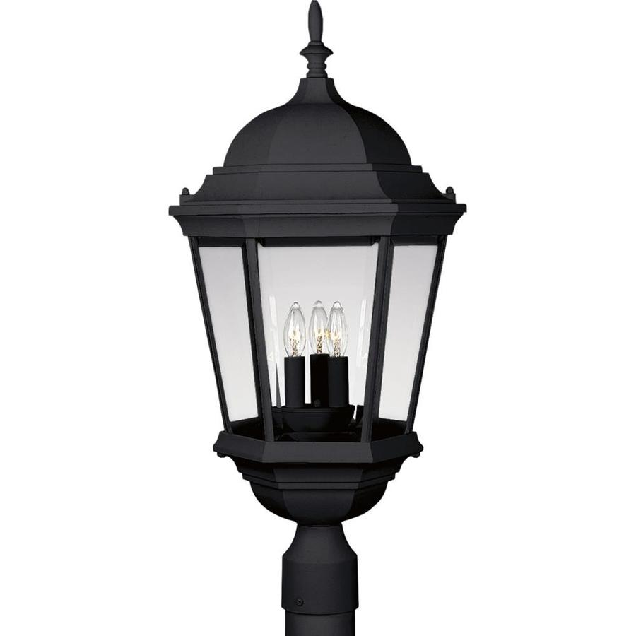 Progress Lighting Welbourne 26-in H Textured Black Post Light