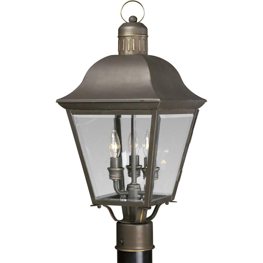 Progress Lighting Andover 20.5-in H Antique Bronze Post Light
