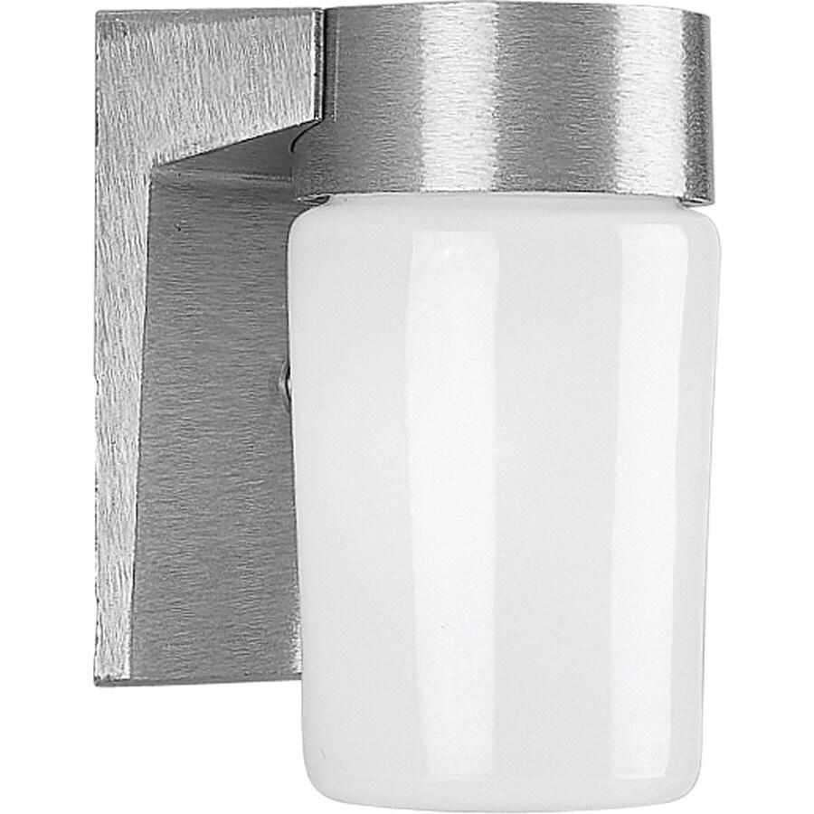 Progress Lighting 6.75-in H Satin Aluminum Outdoor Wall Light