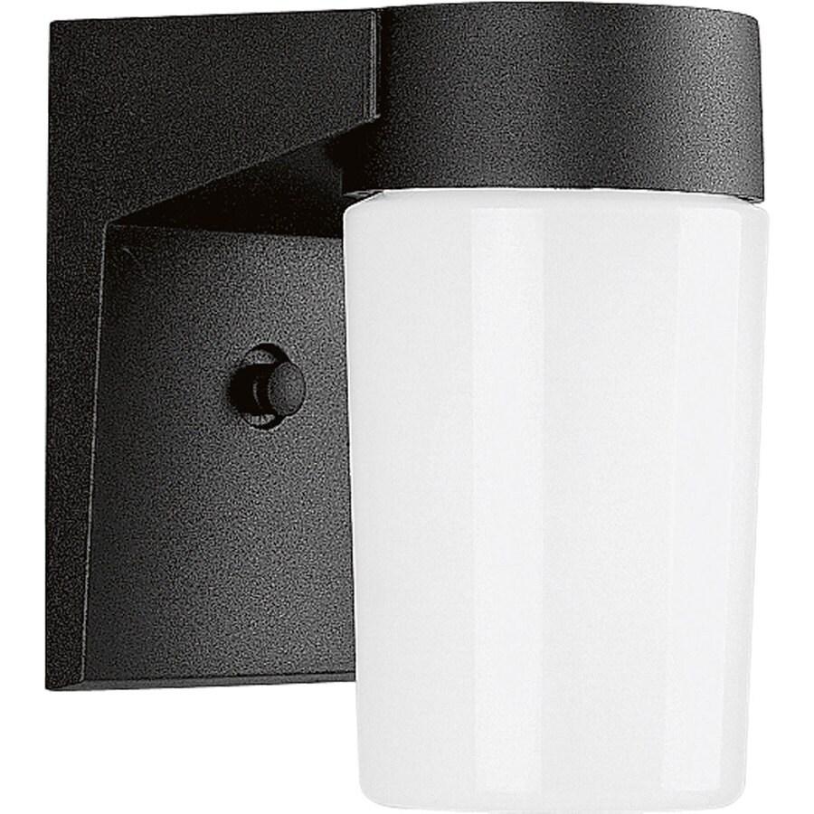 Progress Lighting 6.75-in H Black Outdoor Wall Light