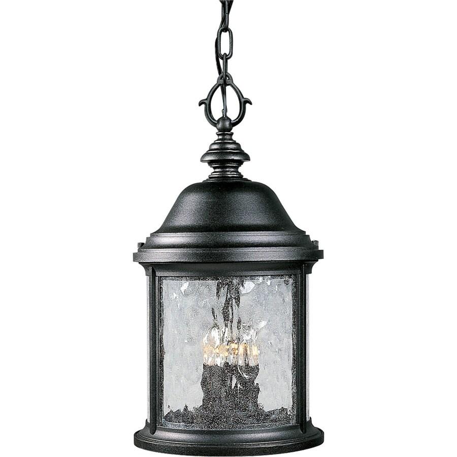 Progress Lighting Ashmore 18.75-in Textured Black Outdoor Pendant Light