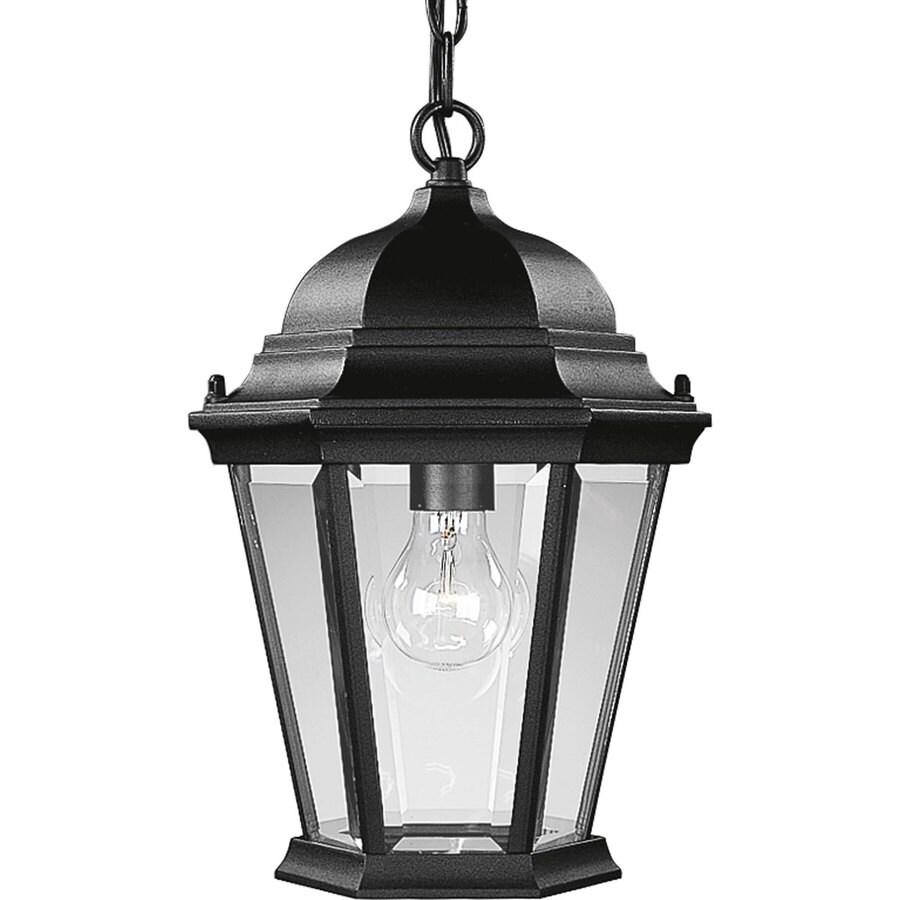 Progress Lighting Welbourne 15-in Textured Black Outdoor Pendant Light