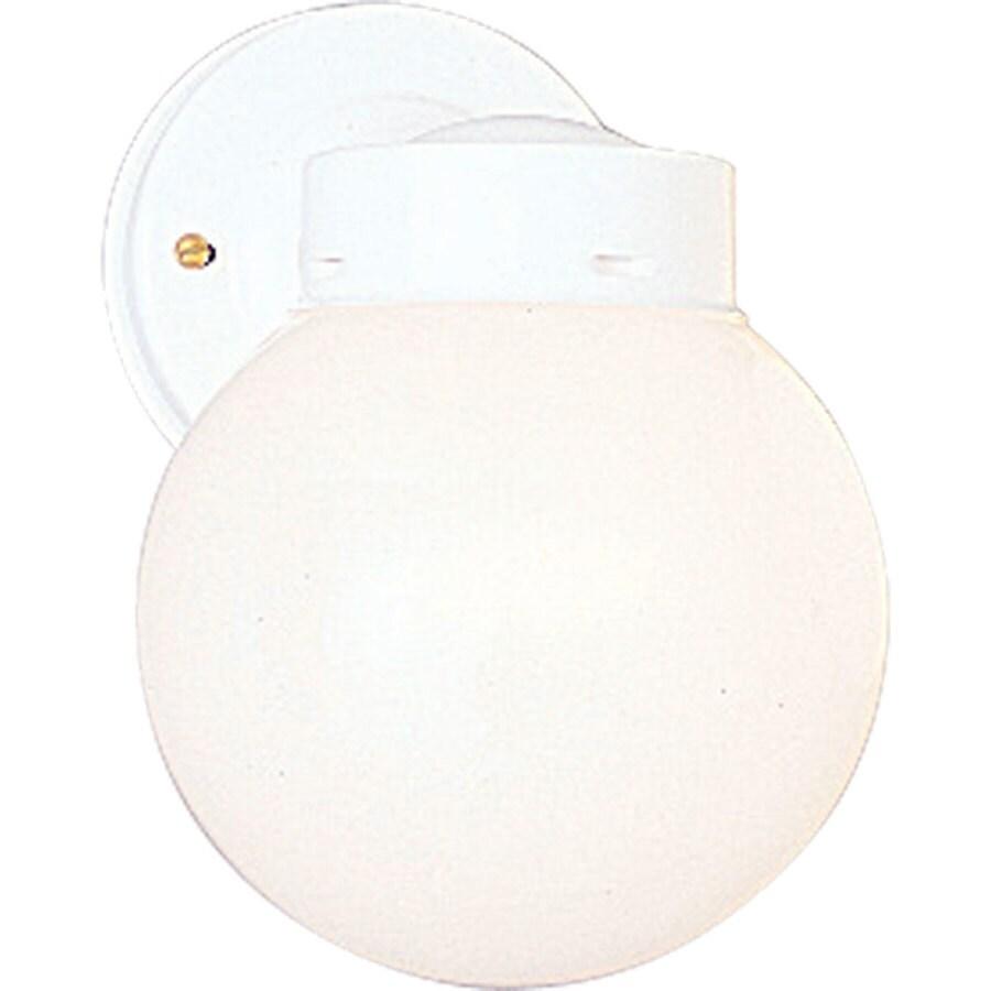 Progress Lighting 8.5-in H White Outdoor Wall Light