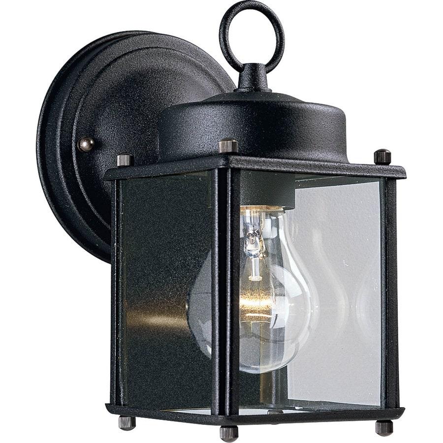 Progress Lighting 8-in H Black Outdoor Wall Light