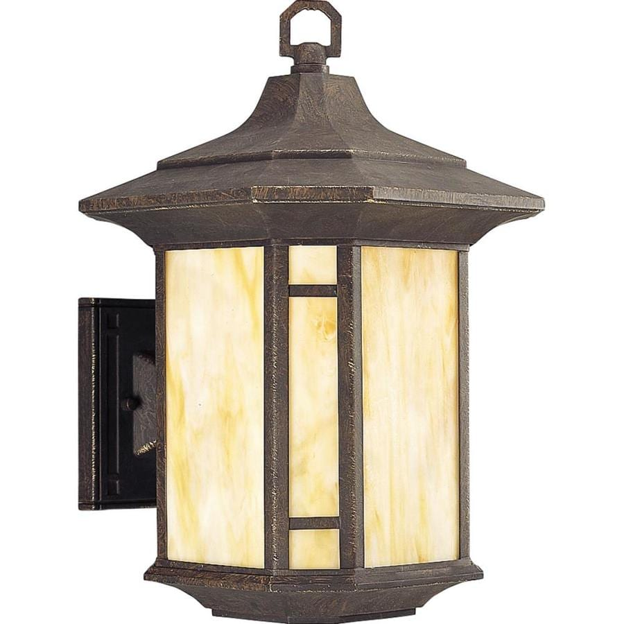 Progress Lighting Arts and Crafts 15.25-in H Weathered Bronze Outdoor Wall Light
