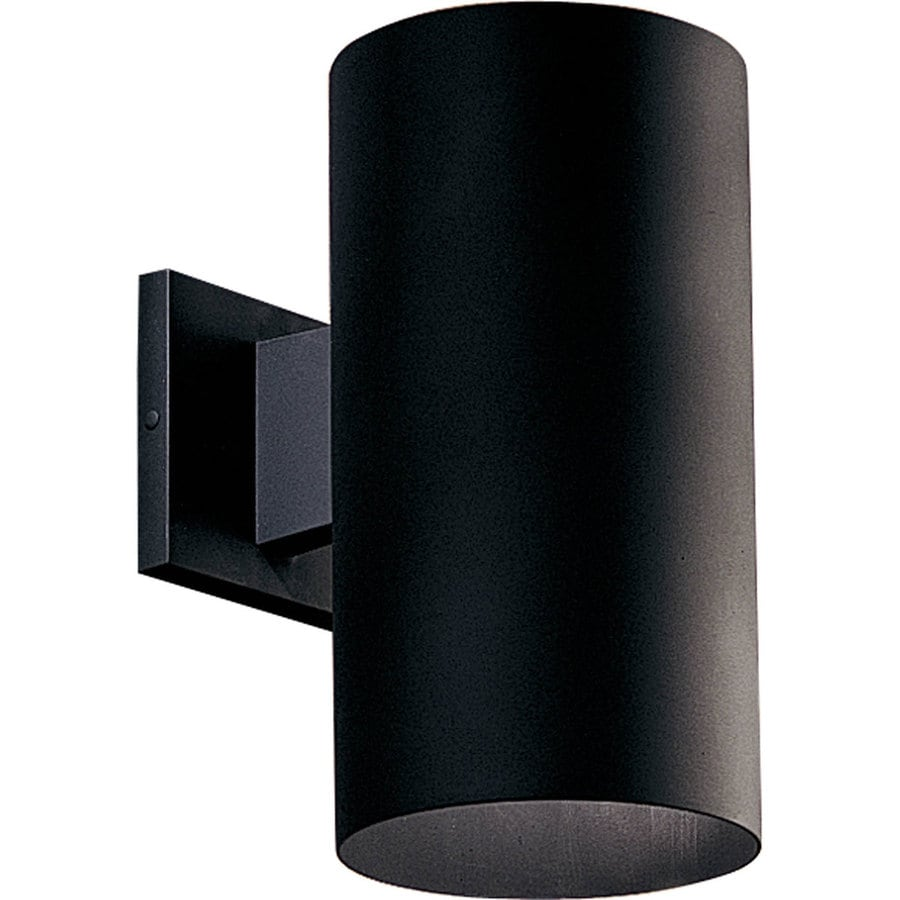 Progress Lighting 12-in H Black Dark Sky Outdoor Wall Light