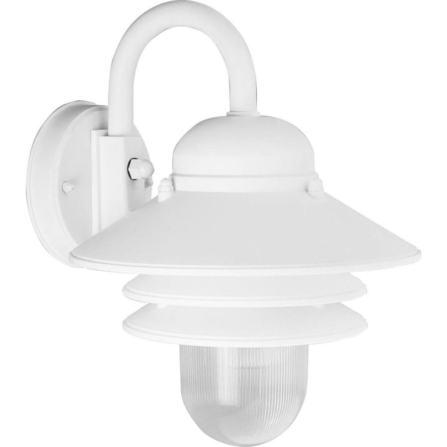 Progress Lighting Newport 10-in H White Outdoor Wall Light