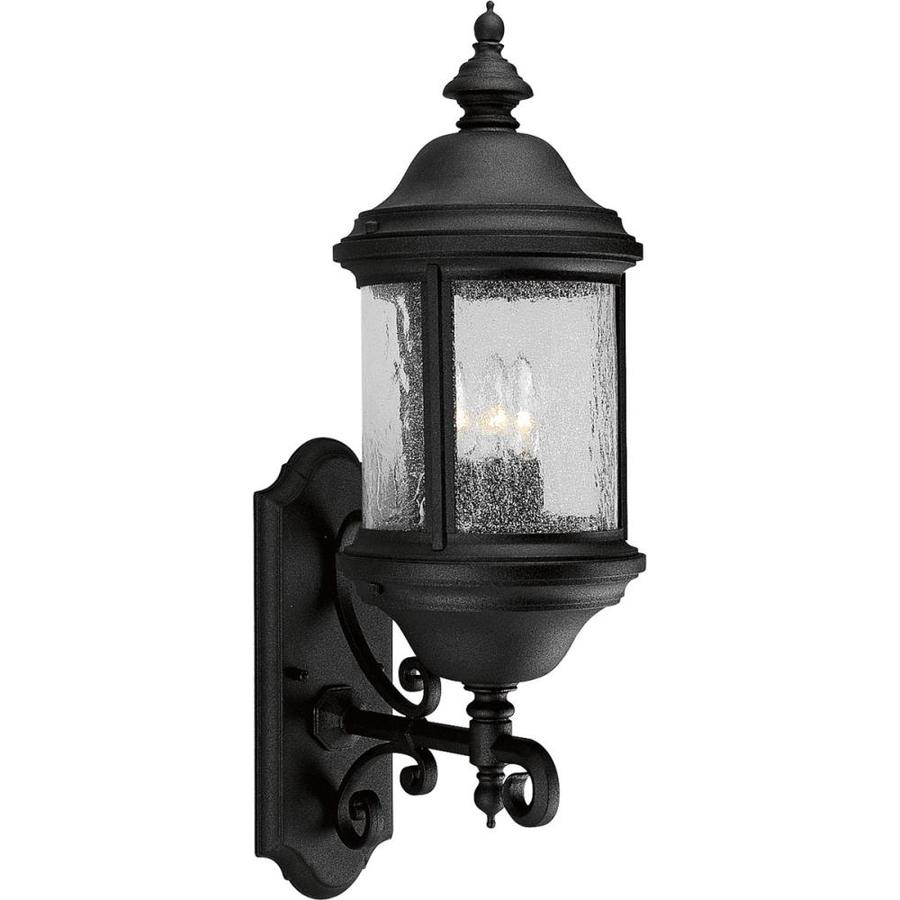 Progress Lighting Ashmore 26.25-in H Textured Black Outdoor Wall Light
