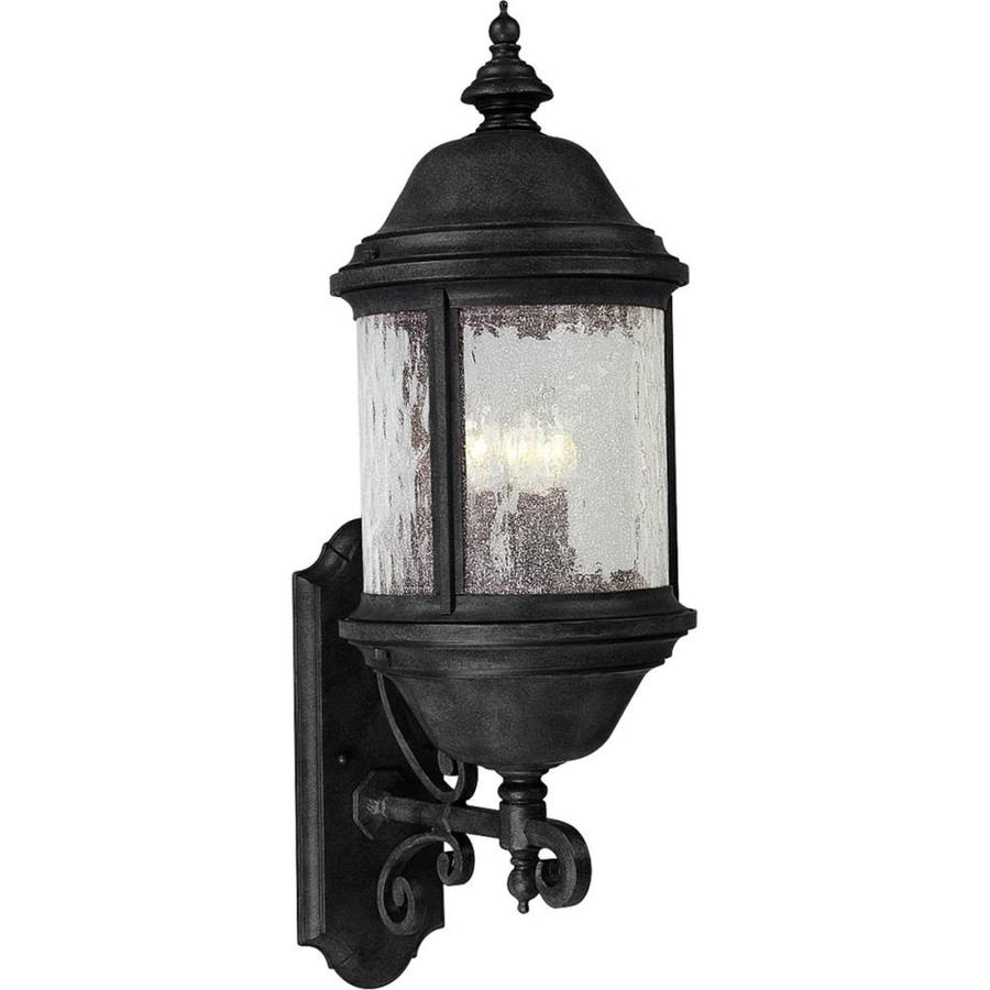 Progress Lighting Ashmore 28-in H Textured Black Outdoor Wall Light