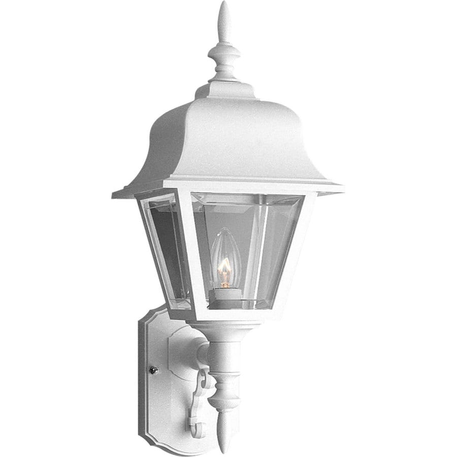Progress Lighting 20-in H White Outdoor Wall Light