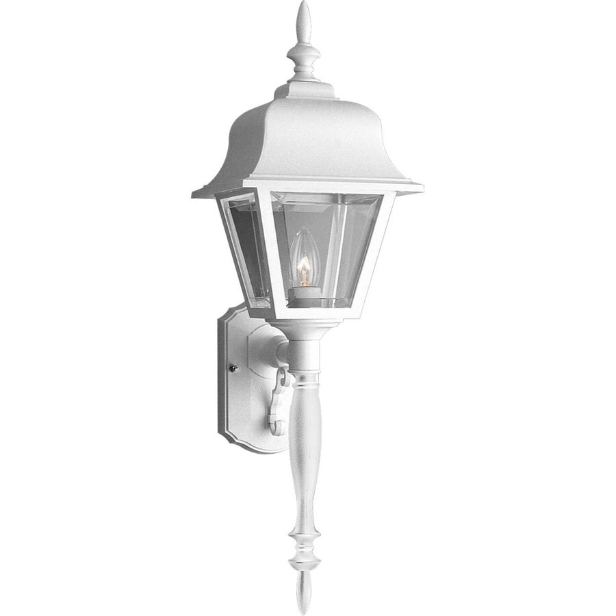 Exterior Wall Lights White : Shop Progress Lighting 25-in H White Outdoor Wall Light at Lowes.com
