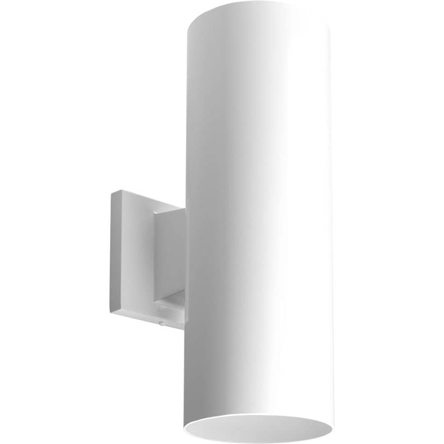 Shop Progress Lighting 14 In H White Dark Sky Outdoor Wall Light At