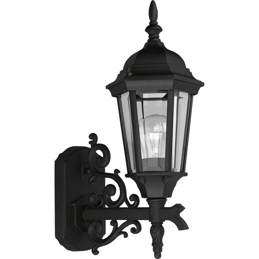 Progress Lighting Welbourne 16.87-in H Textured Black Outdoor Wall Light