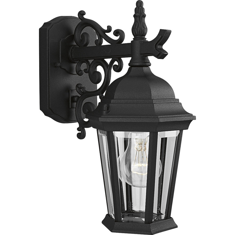 Progress Lighting Welbourne 13.25-in H Textured Black Outdoor Wall Light