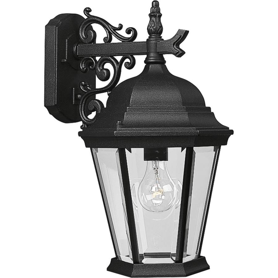 Home Depot Garage Lights Outdoor: Shop Progress Lighting Welbourne 18-in H Textured Black
