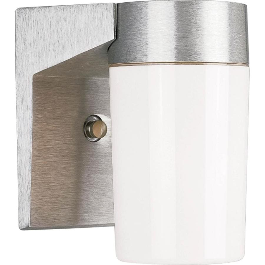 Progress Lighting Hard-Nox 6.75-in H Satin Aluminum Outdoor Wall Light