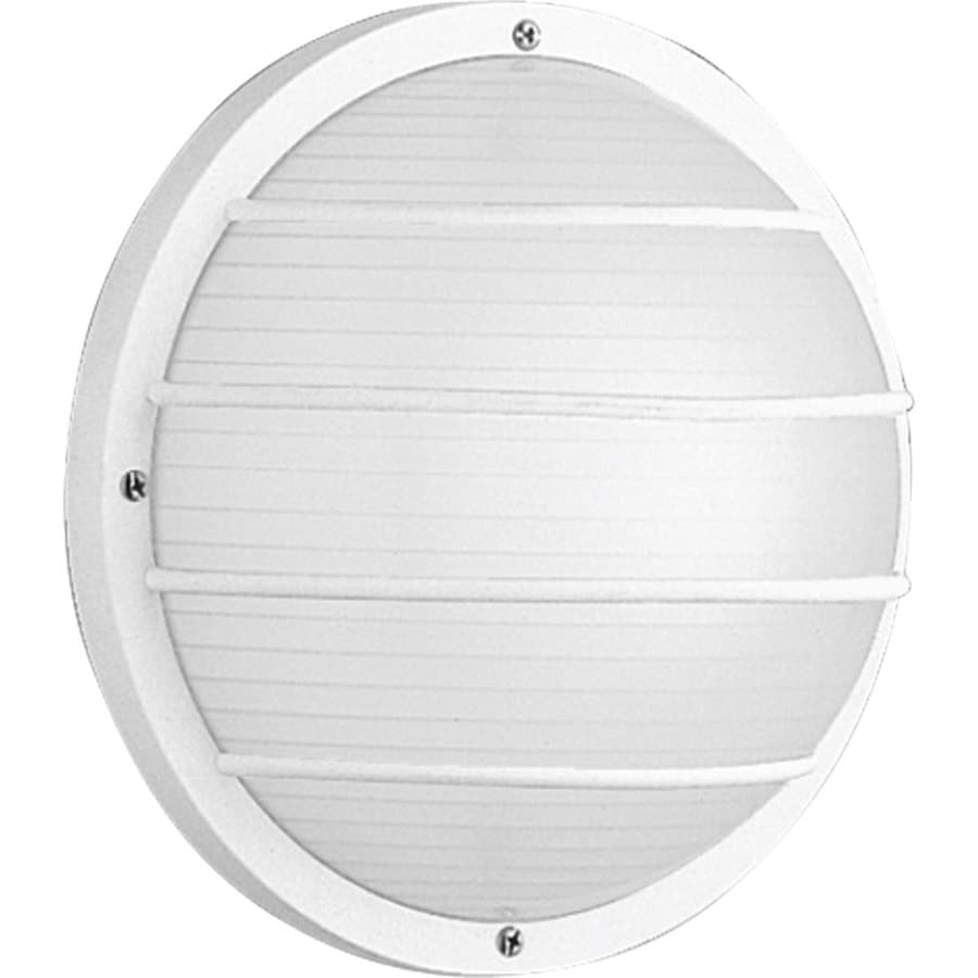 Progress Lighting 10-in H White Outdoor Wall Light