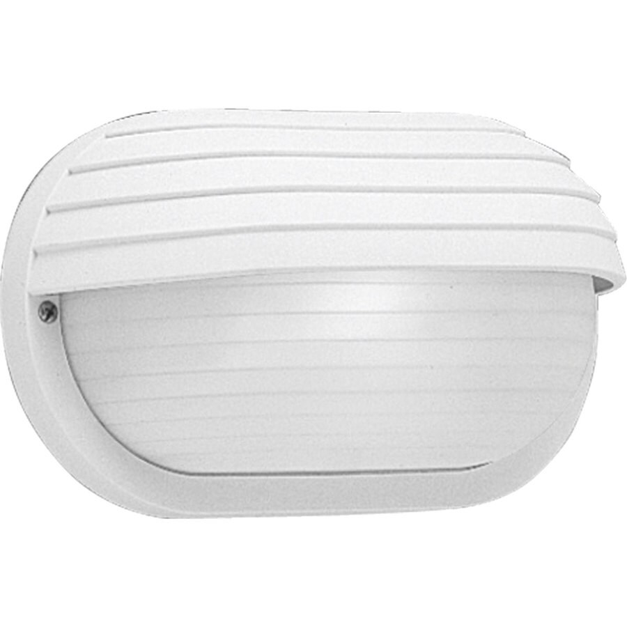 Progress Lighting 5.87-in H White Outdoor Wall Light
