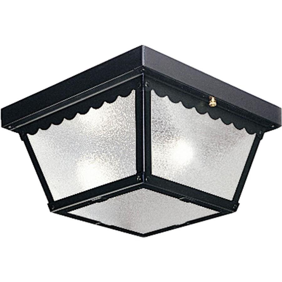 Progress lighting w black outdoor flush mount - Exterior light fixture mounting plate ...