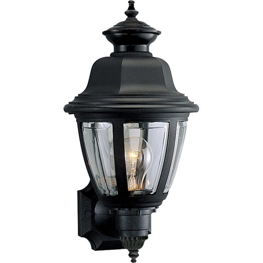 Progress Lighting 16-in H Black Outdoor Wall Light