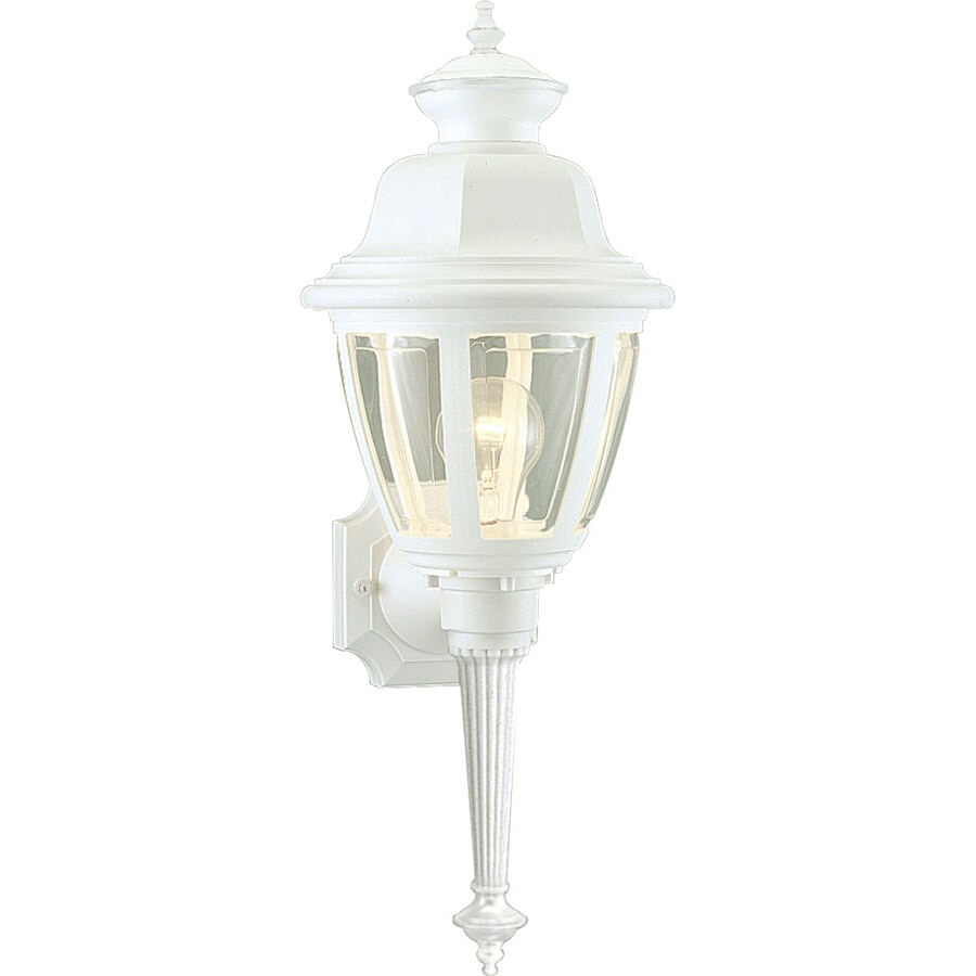 Progress Lighting 21-in H White Outdoor Wall Light