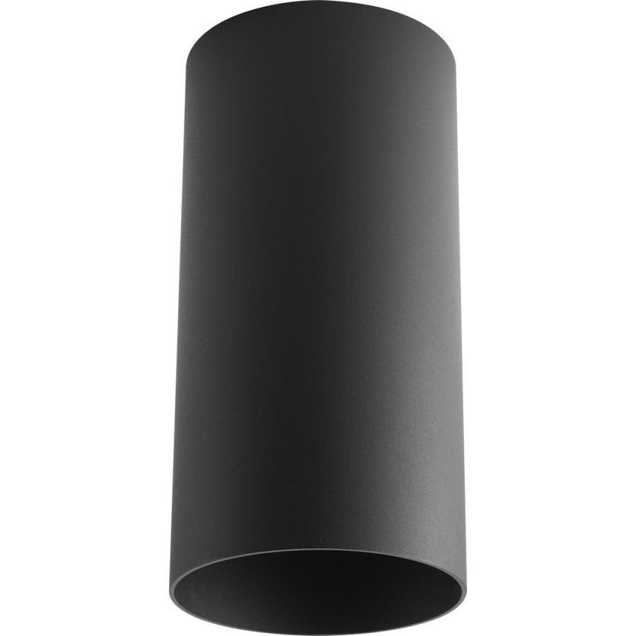 Progress Lighting 6-in W Black Outdoor Flush Mount Light