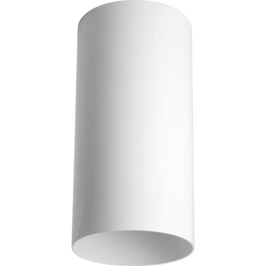 Progress Lighting 6-in W White Outdoor Flush-Mount Light
