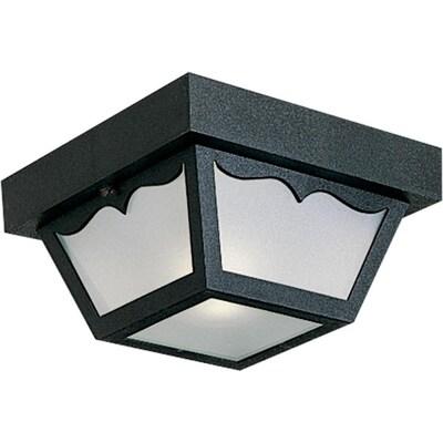 8 25 In W Black Outdoor Flush Mount Light
