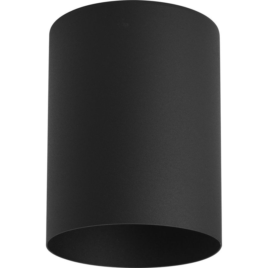Progress Lighting 5-in W Black Outdoor Flush-Mount Light