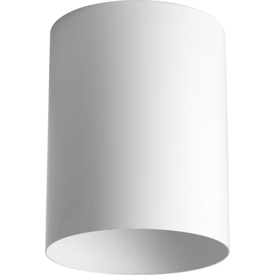 Progress Lighting 5-in W White Outdoor Flush-Mount Light