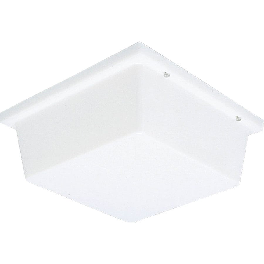 Progress Lighting Hard-Nox 4-in H White Outdoor Wall Light