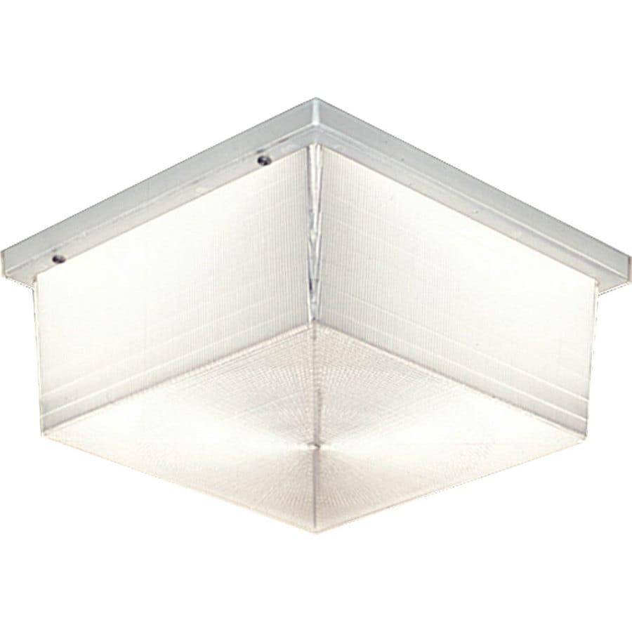 Progress Lighting Hard-Nox 4-in H White Outdoor Wall Light
