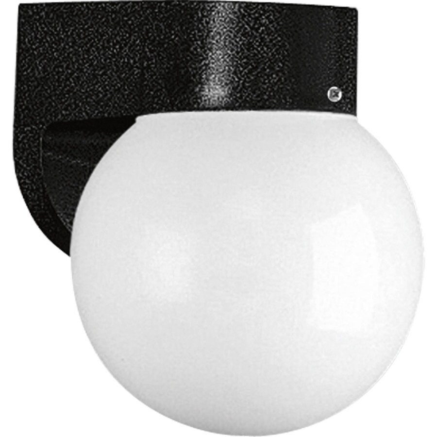 Progress Lighting Polycarbonate 7.75-in H Black Outdoor Wall Light