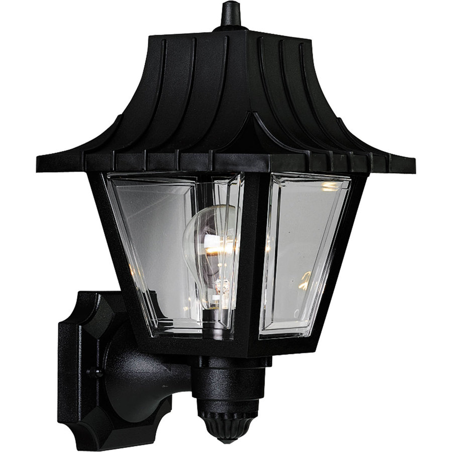 Progress Lighting Mansard 12.75-in H Black Outdoor Wall Light