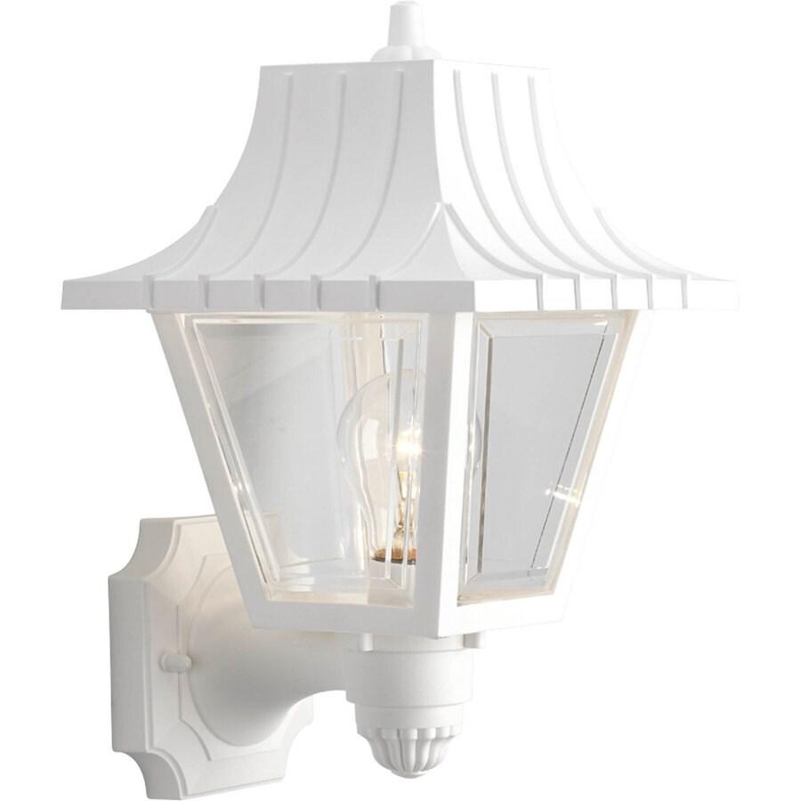 Progress Lighting Mansard 12.75-in H White Outdoor Wall Light