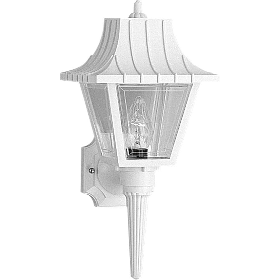 Shop Progress Lighting Mansard 17-in H White Outdoor Wall ...