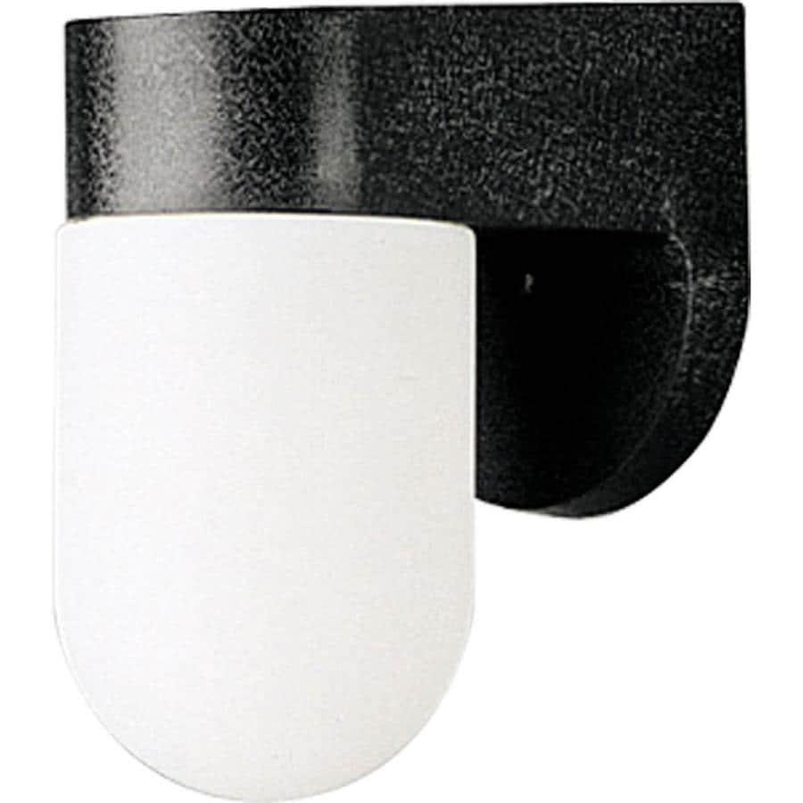 Progress Lighting Polycarbonate 7-in H Black Outdoor Wall Light