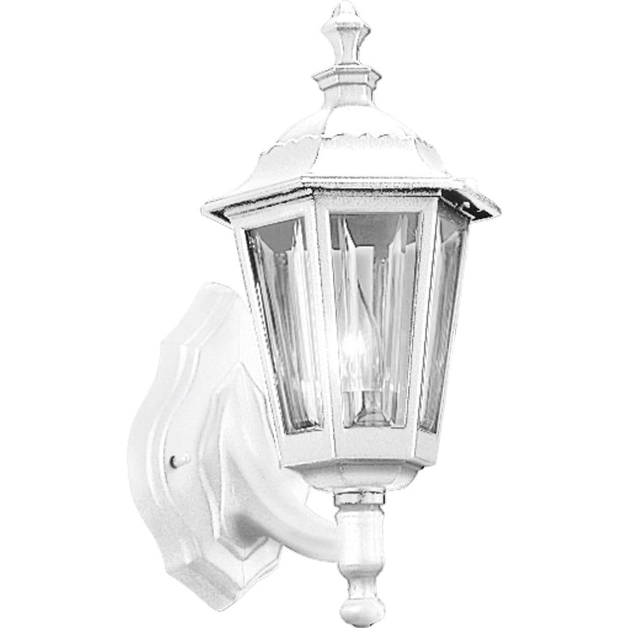 Progress Lighting 15-in H White Medium Base (E-26) Outdoor Wall Light