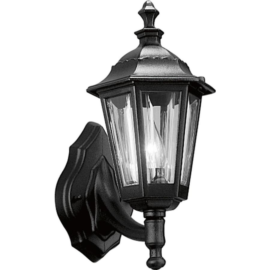 Progress Lighting 15-in H Black Outdoor Wall Light