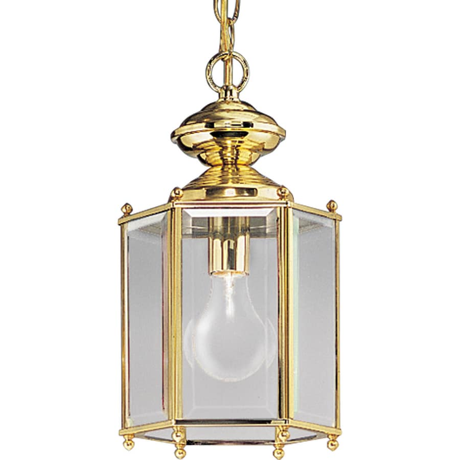Outdoor Lantern Pendant Lighting : Progress lighting brassguard in polished brass