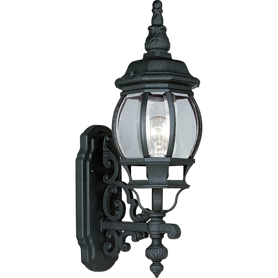 Progress Lighting Onion Lantern 21.25-in H Textured Black Outdoor Wall Light