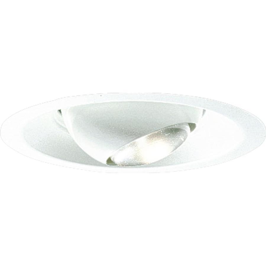 Progress Lighting White Eyeball Recessed Light Trim (Fits Housing Diameter: 6-in)
