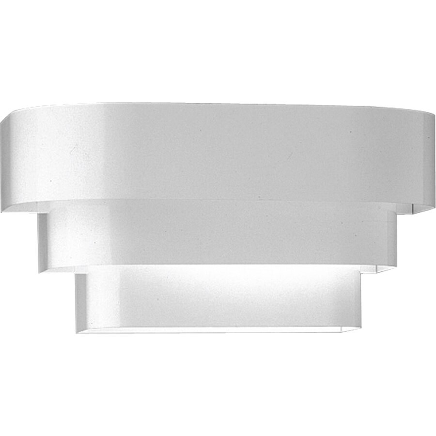 Shop Progress Lighting 14-in W 1-Light White Pocket Wall Sconce at Lowes.com