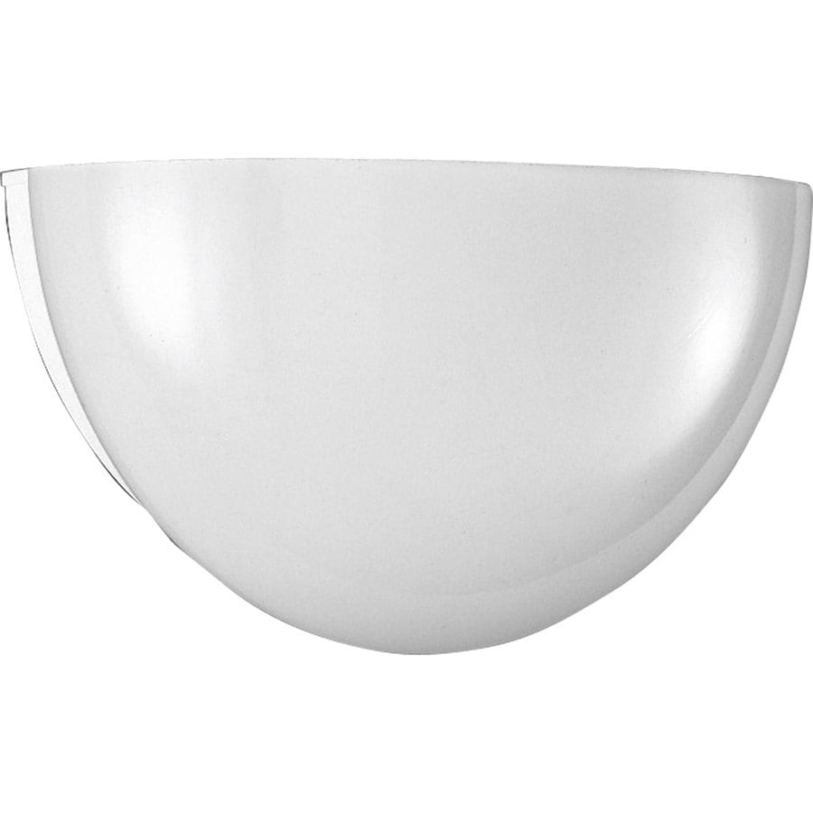 Progress Lighting 11.5-in W 1-Light White Pocket Hardwired Wall Sconce