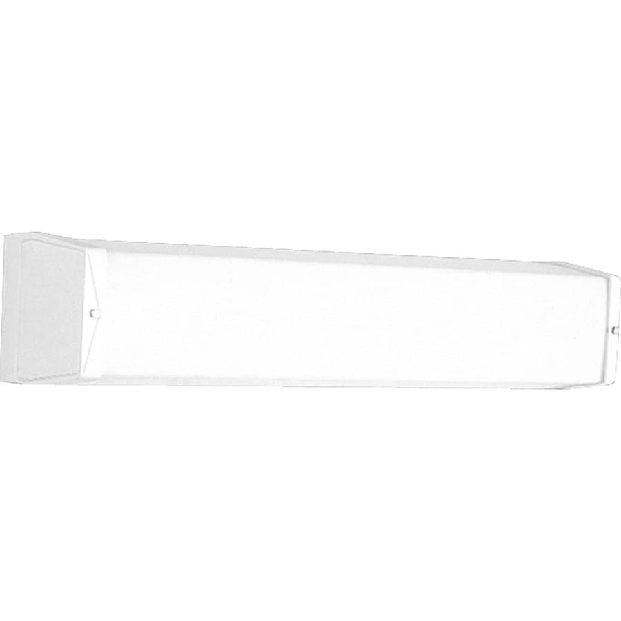 Progress Lighting 2-Light 4.625-in White Rectangle Vanity Light