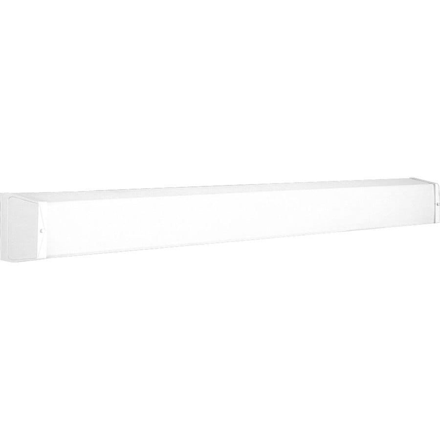 Lowes White Vanity Lights : Shop Progress Lighting 1-Light 4.625-in White Rectangle Vanity Light at Lowes.com