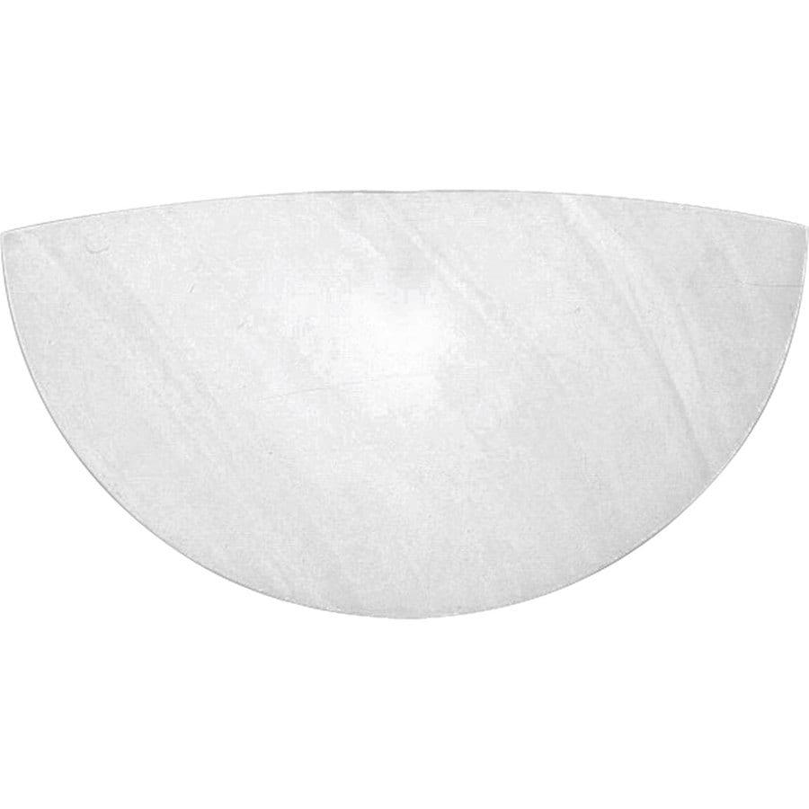 Progress Lighting Wall Pocket 16.75-in W 1-Light Faux Alabaster Pocket Hardwired Wall Sconce