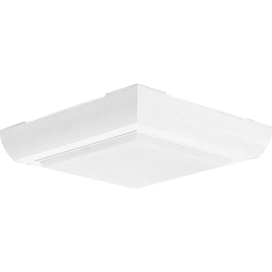 Progress Lighting Squares 9.5-in W White Flush Mount Light
